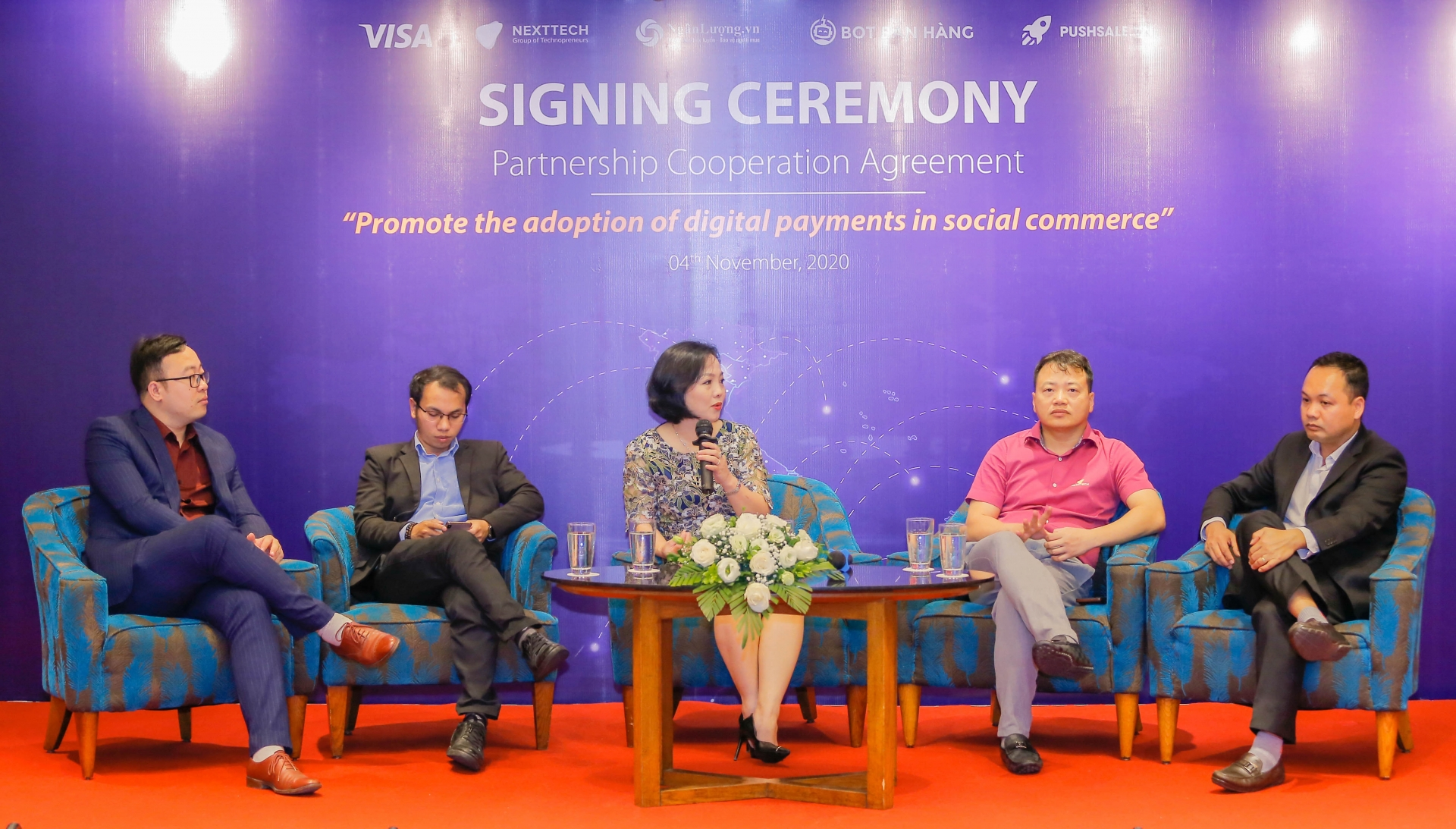 visa and nexttech sign partnership to support social commerce merchants in vietnam