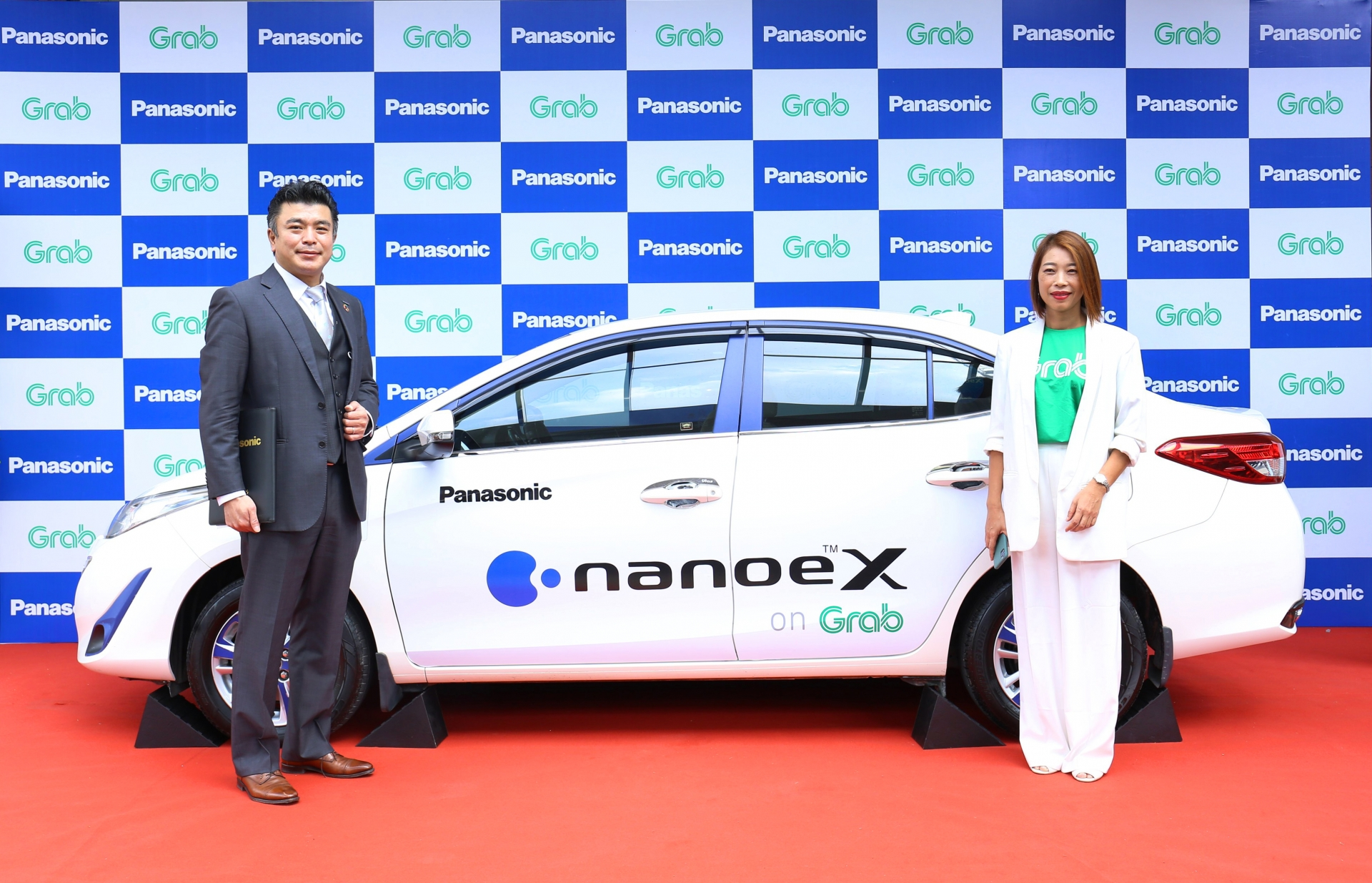 2000 grabcar vehicles to be equipped with panasonic nanoe x air quality solutions