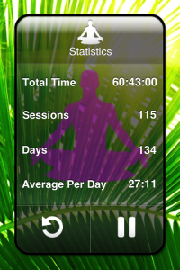 Meditate for iPhone. Great app, but it hasn't been updated in a while.