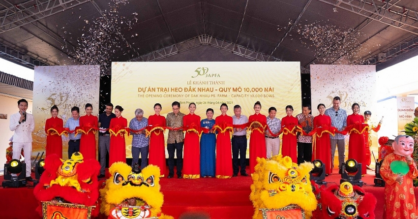 japfa inaugurates pig farm with 10000 sows in binh phuoc province