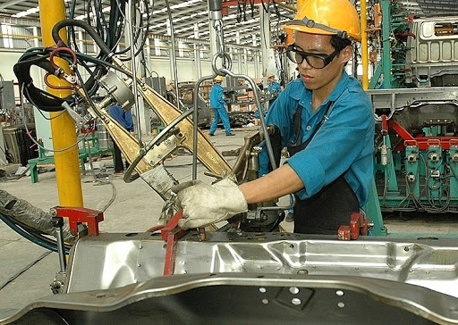 index of industrial production rises in first four months
